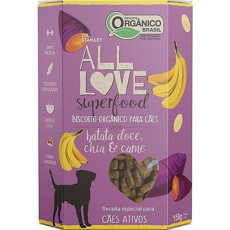 Biscoito All Love - Superfood   Batata Doce, Chia & Carne 150g