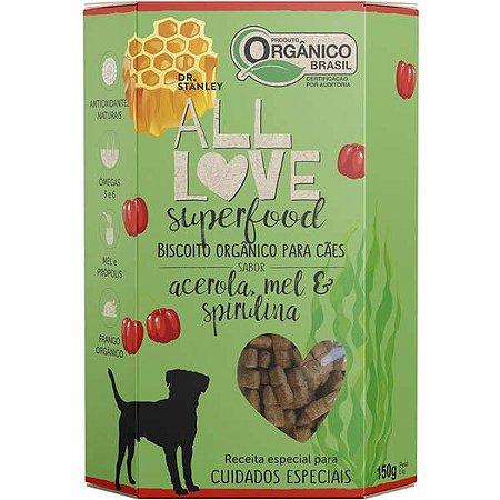 Biscoito All Love - Superfood | Acerola, Mel & Spirulina 150g