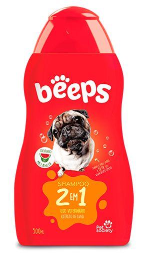 Shampoo 2 em 1 Beeps Pelos Curtos - 500ml Pet Society