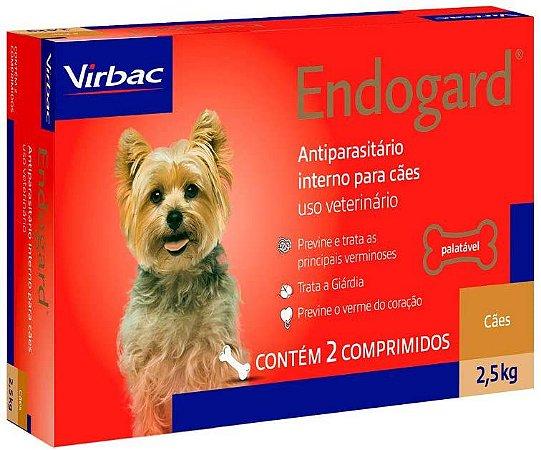 Vermífugo Endogard - Cães até 2,5kg Virbac 2 Comprimidos