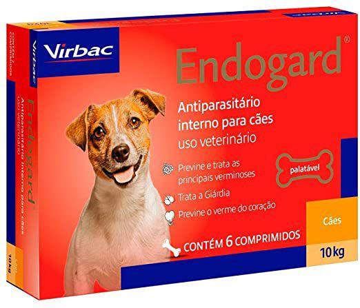 Vermífugo Endogard - Cães até 10kg Virbac 6 Comprimidos