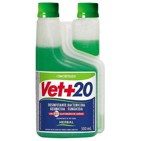 Desinfetante Bactericida Herbal - Concentrado 500ml Vet+20