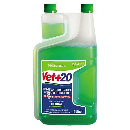 Desinfetante Bactericida Herbal - Concentrado 2L Vet+20