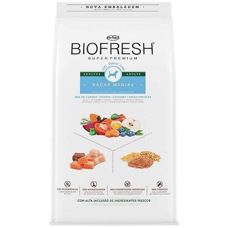 Ração Biofresh Adultos Sabor Mix de Carnes - 10,1Kg Cães Médios