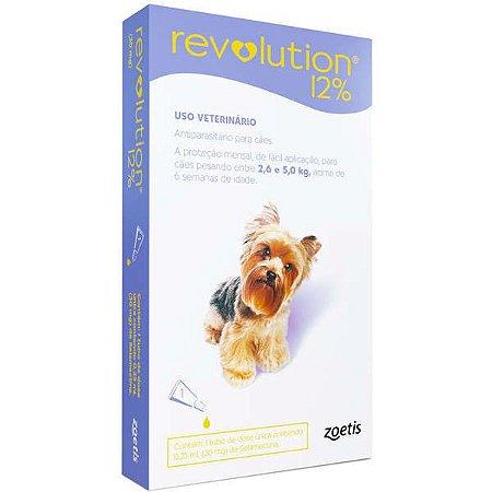 Antipulgas Revolution 12% 30mg - Cães 2,6kg a 5kg