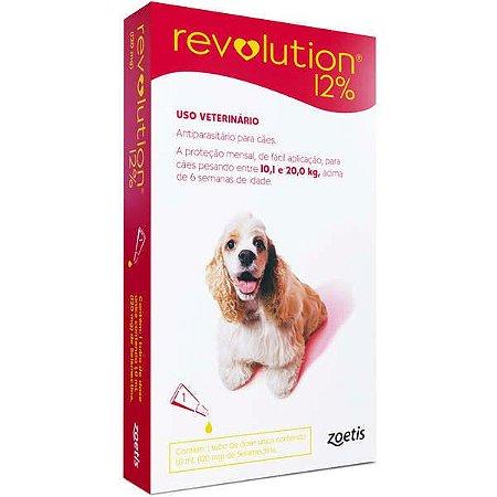 Antipulgas Revolution 12% 120mg - Cães 10,1kg a 20kg