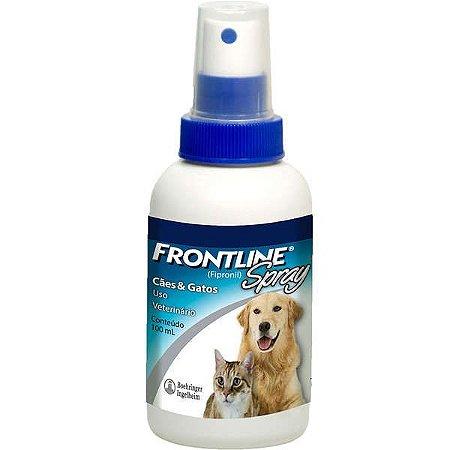 Antipulgas e Carrapatos Frontline Spray - Cães e Gatos 100ml
