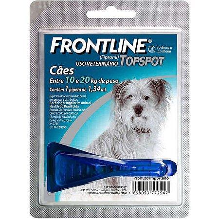 Antipulgas e Carrapatos Frontline Topspot - Cães de 10kg a 20kg
