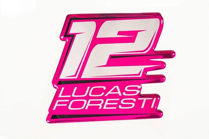Adesivo resinado #LF12 rosa