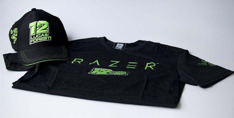 Kit: 1 Camiseta LF e RAZER + 1 Boné LF e Razer