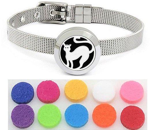 Bracelete Aromatizador (Tema Gato)