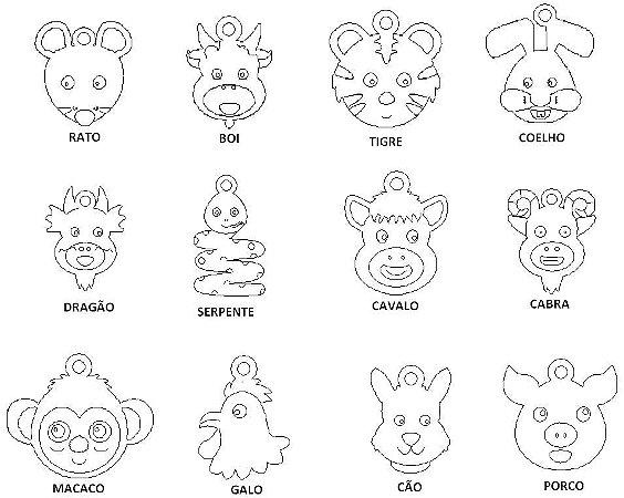 Horóscopo Chinês Coleção Família