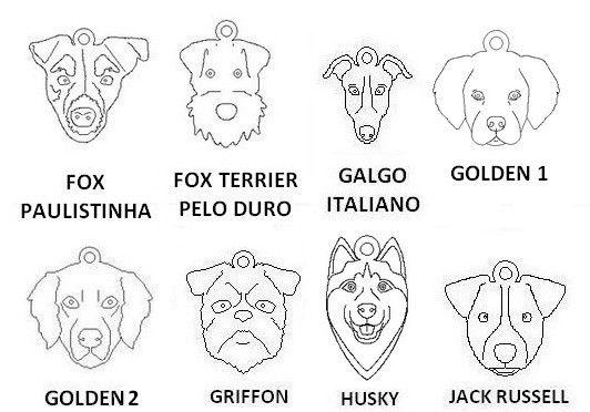 Dogs para Pulseira Coleção Família (raças de F a R)