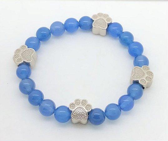 Pulseira Ágata (azul) Patas