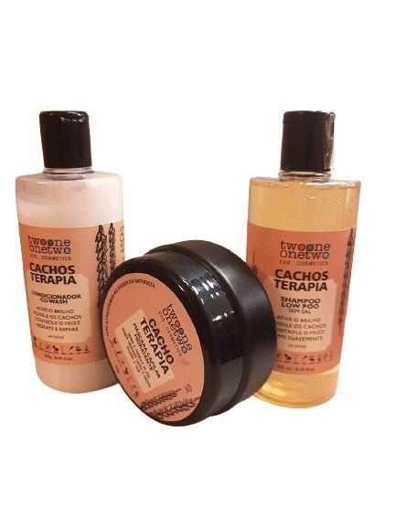 Kit Cacho Terapia: Shampoo + Condicionador + Máscara Capilar, Twoone Onetwo