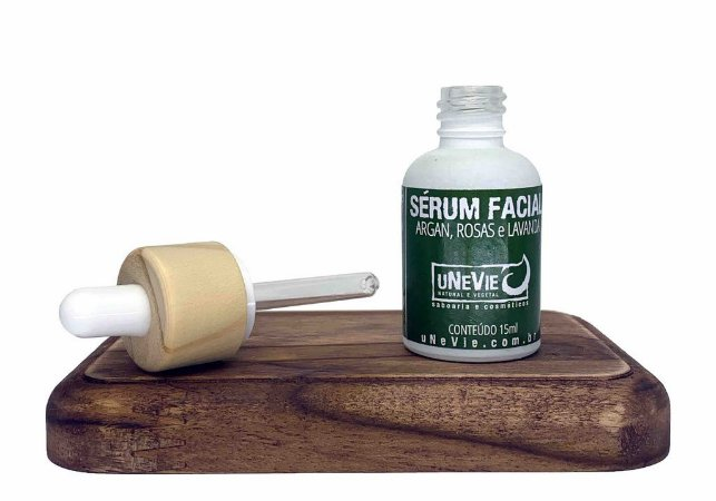 Sérum Facial Argan Orgânico, Rosas e Lavanda, Unevie, 15ml