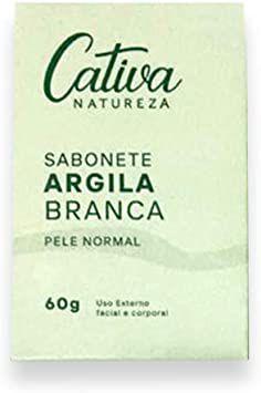 Sabonete Argila Branca Pele Normal, 60g, Cativa Natureza