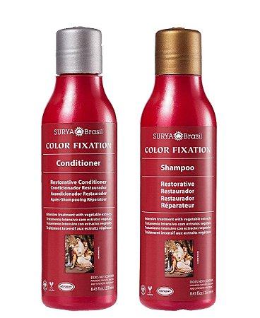 Shampoo e Condicionador Restaurador Color Fixation, Surya Brasil