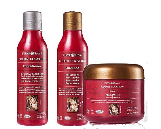 Kit color natural - shampoo, condicionador e máscara capilar, Surya Brasil