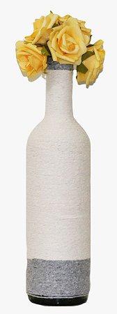 Vaso decorativo grande Branco e Cinza, Planeta Vegs