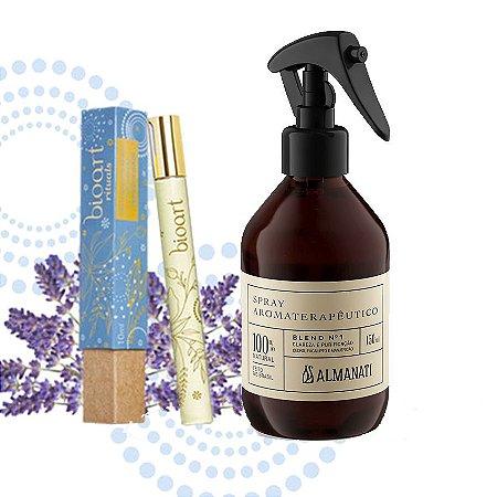 Kit Alegria: Óleo Perfumado Roll On Tranquilidade + Spray Aromaterapêutico Alegria/ Criatividade