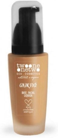 773.02: Base Facial Natural Vegano Color Fix Twoone Onetwo Makeup 40g Rose Beige