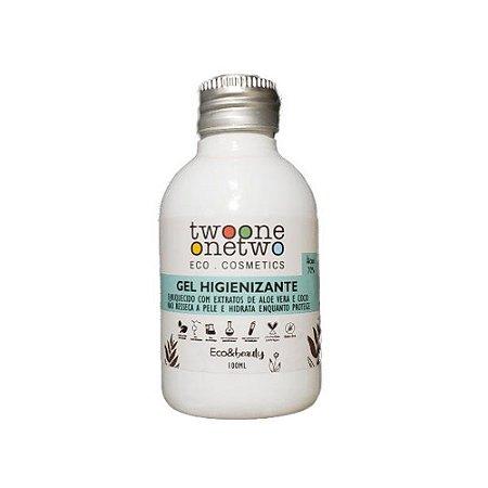 Álcool Gel Higienizante para mãos Aloe Vera e Coco Twoone Onetwo Natural Vegana 100g