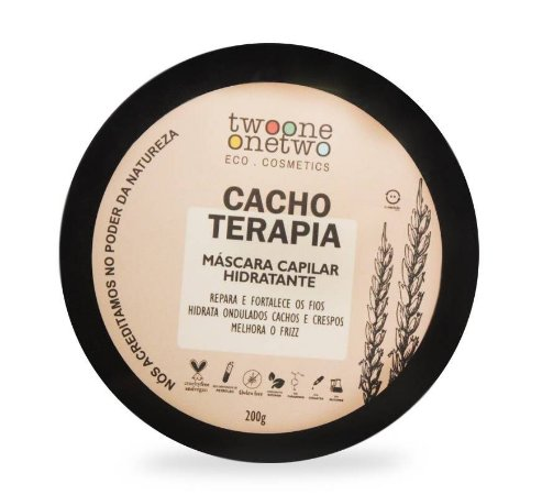 Máscara Capilar Hidratante Cacho Terapia Twoone Onetwo Natural Vegana 200g