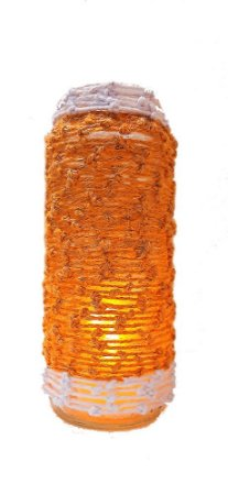 Porta-vela de vidro ecológico Dourado