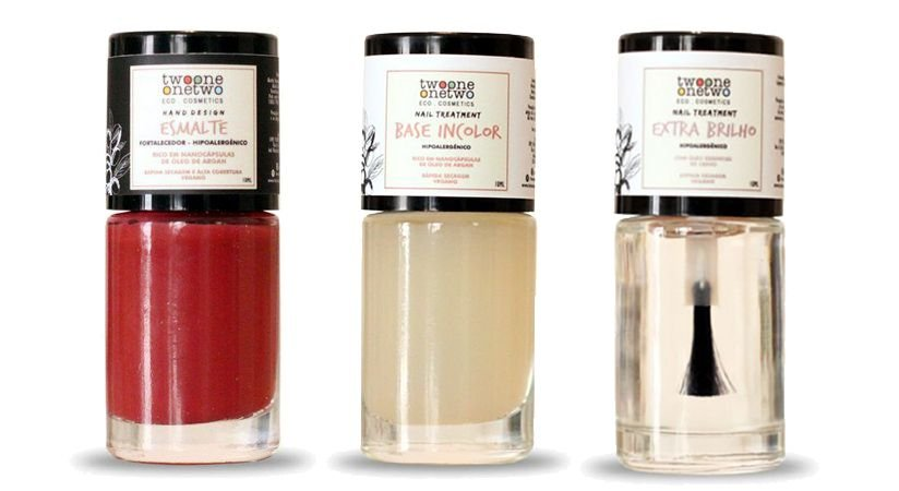 Kit Goji Berry: Esmate Hipoalergênico Vegano Fortalecedor + Base Incolor + Extra Brilho Twoone Onetwo