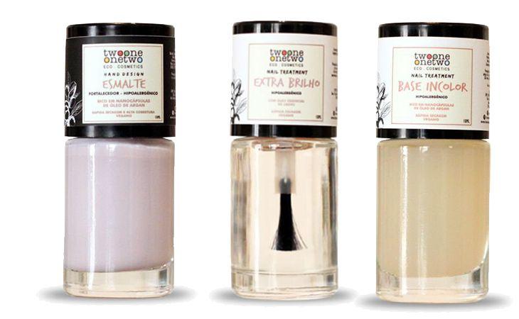 Kit Frozen: Esmalte Hipoalergênico Vegano Fortalecedor Frozen+ Base Incolor + Extra Brilho Twoone Onetwo