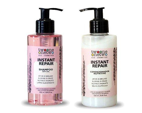 Kit Shampoo e Condicionador Instant Repair Natural Vegano Jojoba e Coco Twoone Onetwo