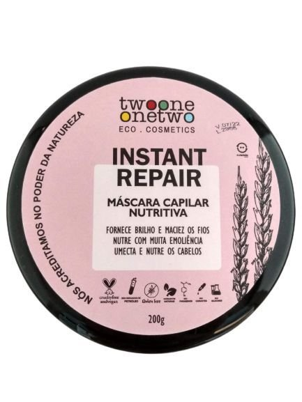 Máscara Capilar Nutritiva Instant Repair, Twoone Onetwo, 200g