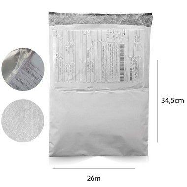 Envelope de Segurança 26 x 34,5 cm com bolsa canguru e plástico bolha - 250 pçs.