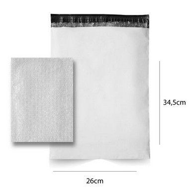 Envelope de Segurança 26 x 34,5 cm com plástico bolha - 250 pçs.