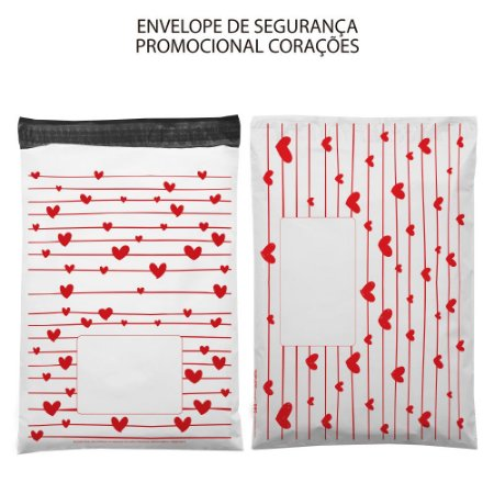 Envelope de Segurança 32 x 40 cm - Coração