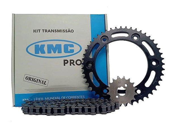 Kit Relação Kmc Pro Honda Bross Nxr 160 - Xre 190 Todas