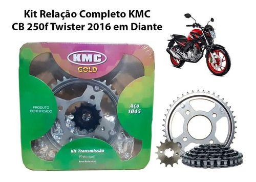 Kit Relação Com Retentor Aço 1045 Honda Cb250f 2016 Kmc