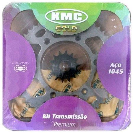 Kit Relação transmissão Xt660r KMC Com Retentor Aço 1045
