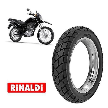 Pneu Rinaldi traseiro Honda Nxr Bros 125/150/160 Todas  110/90-17 modelo R34