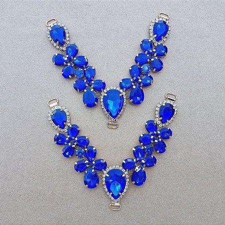 Cabedal V - Joia Chaton (Azul Royal)