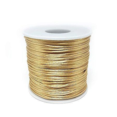 Fio de Seda 1mm 100mt (Dourado)