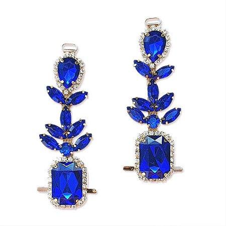 Cabedal I - Chaton Navete (Azul Royal)
