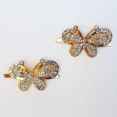 Piercing Garra - Borboletinha Strass (Dourado)
