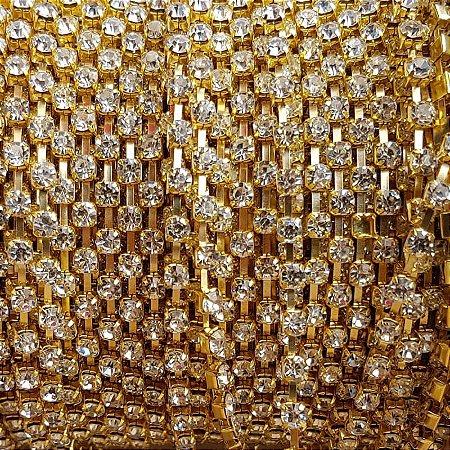 Fio Strass ss16 1m (Cristal)