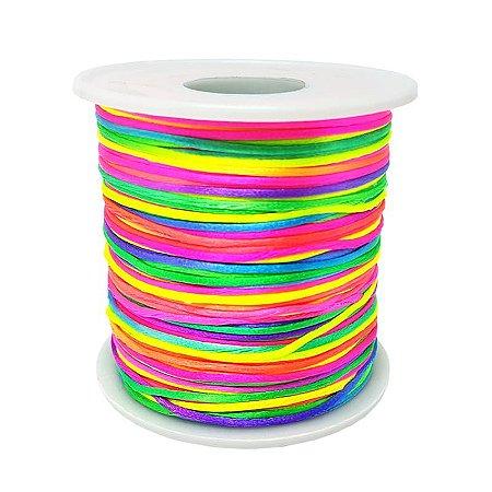 Fio de Seda Mesclado 1mm 100mt (Colorido)
