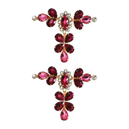 Cabedal Luxo T - Camafeu Strass (Marsala)