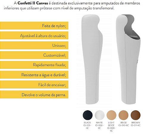 Capa para prótese - confetti ii canvas - para amputações transfemural