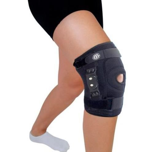 Joelheira de neoprene articulada policêntrica com cintas ajustáveis - ortho pauher – ref.: ac315