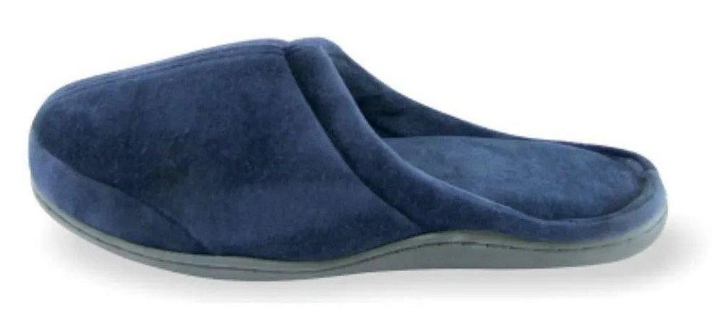 Pantufa ortopédica viscopauher – azul marinho -  as mais confortáveis do mundo - ortho pauher - ref.: ac022